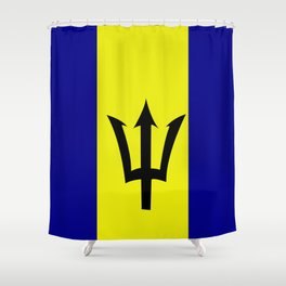Flag of Barbados Shower Curtain