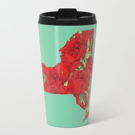 New York in Flowers Travel Mug