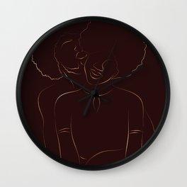 African American couple magic melanin beauty, dark skin girl, black girl, afro girl, loving couple, happy couple Wall Clock