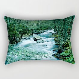Between trees Rectangular Pillow