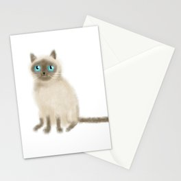 Chocolate Point Siamese Stationery Cards