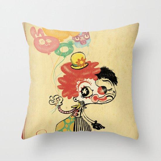 The Clown / Balloons / Facade Throw Pillow