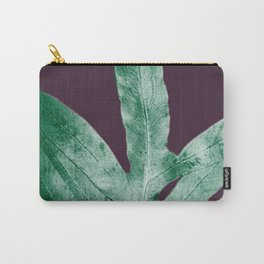 Green Fall Fern Purple Carry-All Pouch