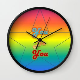 You Be You Typeography Wall Clock