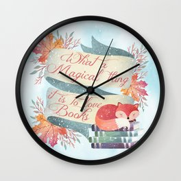 Winter Fox Books Wall Clock