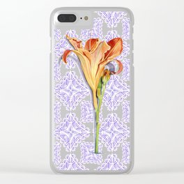 Daylily Lace Clear iPhone Case
