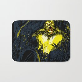 SASQUATCH IN THE YARD Bath Mat