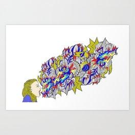 Shout!! Art Print
