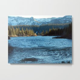 Convict Lake in the winter Metal Print
