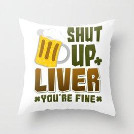 St Patricks Day Party Shirt Shamrock Beer Gift Idea Light Throw Pillow