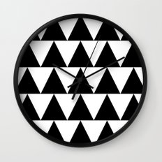Black and White Triangle By PencilMeIn Wall Clock