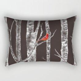 Lone Cardinal Rectangular Pillow