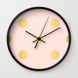 Blush gold Wall Clock