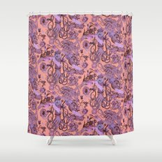 Sea Squad Red Shower Curtain