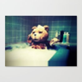 Pixel Ted Canvas Print