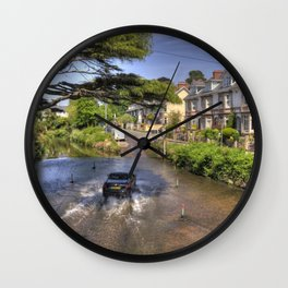 Sidmouth River Crossing  Wall Clock