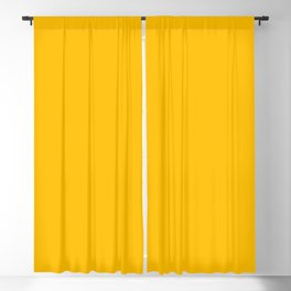 Amber Yellow Solid Color Blackout Curtain