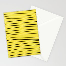 Yellow Handmade Lines Stationery Cards