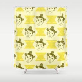Hive Mind Yellow Shower Curtain