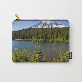 Wildflower Color by Reflection Lake and Mt Rainier, No. 2 Carry-All Pouch