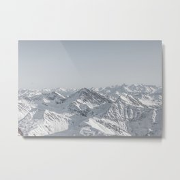 Mountain peaks - Mont Blanc serie 7 - faded mountains Metal Print