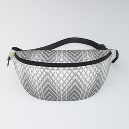 Cool Silver Grey Frosted Geometric Design Fanny Pack
