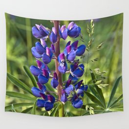 Summer Meadow with Blue Lupine Wall Tapestry