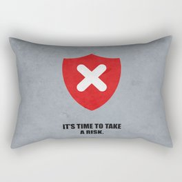 Lab No. 4 - It's Time To Take A Risk Business Inspirational Quotes Poster Rectangular Pillow