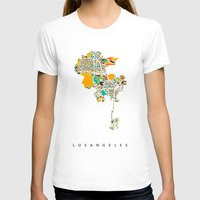 los angeles T-shirts featuring Los Angeles by Nicksman