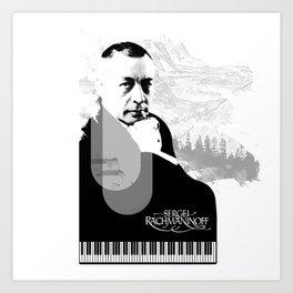 Sergei Rachmaninoff Art Print