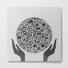 Hand the house3 Metal Print