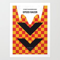 No482 My Speed Racer minimal movie poster Art Print