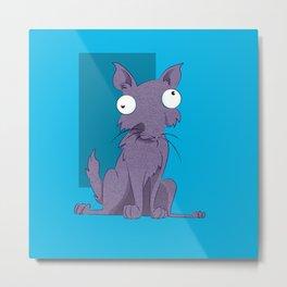 Fro Cat  Metal Print