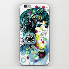 floral girl 2 iPhone & iPod Skin