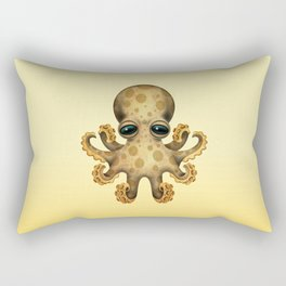 Cute Brown and Yellow Baby Octopus Rectangular Pillow