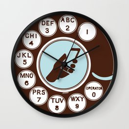 Dial numbers with analoque mobile Wall Clock
