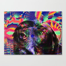 Black Lab Nose Canvas Print