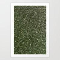 gold glitter Art Prints featuring gold glitter by Hannah