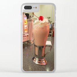 Strawberry Malt Shake  Clear iPhone Case