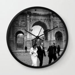 Wedding in Roma Wall Clock