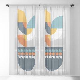 Geometric Plant 01 Sheer Curtain
