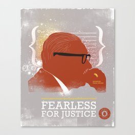 FEARLESS: For Justice Canvas Print
