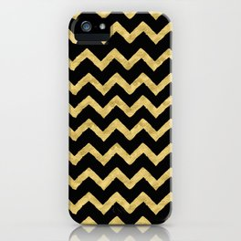 Chevron Black And Gold iPhone Case