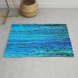 ripples on imagined water Rug