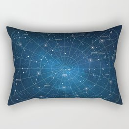 Constellation Star Map Rectangular Pillow