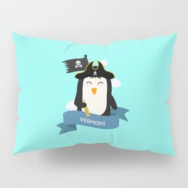 Penguin Pirate Captain from VERMONT  T-Shirt Pillow Sham