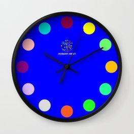 Robert Hirst Spot Clock Blue Wall Clock