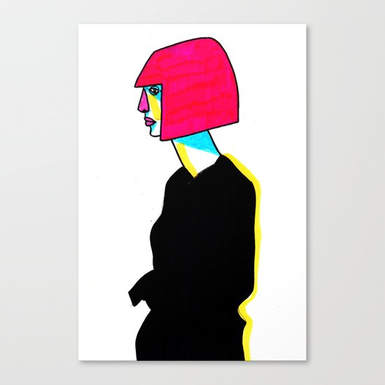black dress Canvas Print