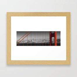 Golden Gate Bridge | Panoramic Downtown View Framed Art Print