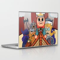 "vikings Laptop & iPad Skins featuring My dangerous Friends. (Vikings) by Olivier Dressen aka ""HERO"""